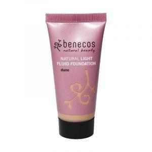 Base de maquillaje para piel grasa fluido Dune vegano de Benecos