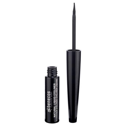 Eyeliner líquido de ojos negro de cosmética natural